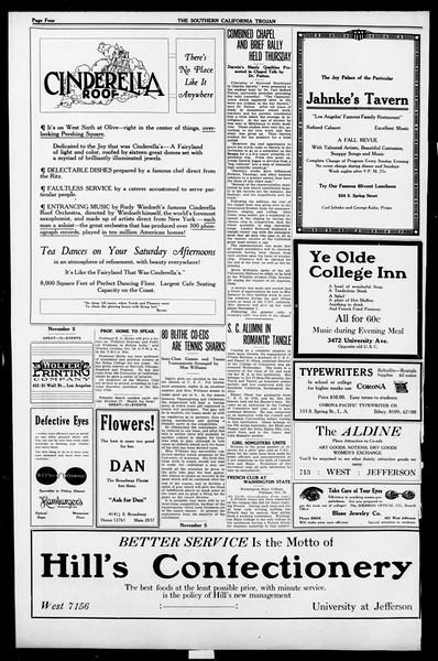 The Southern California Trojan, Vol. 13, No. 12, October 21, 1921