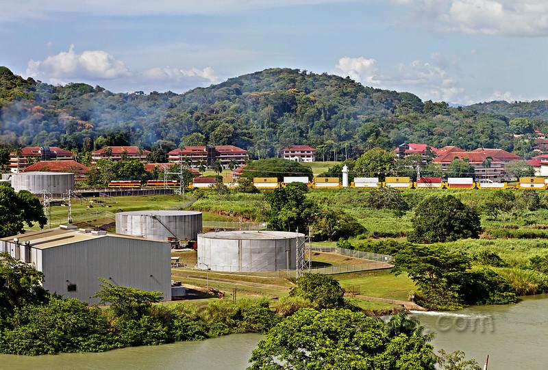 Panama Canal Railway Passing FSU-Panama