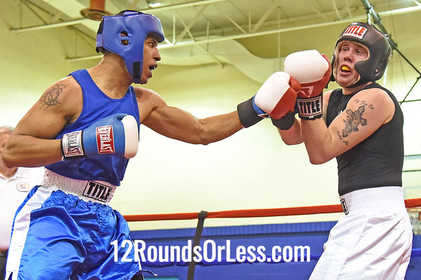 Bout 9 Ben Cottrell, Dover, OH, Red Gloves -vs- DJ Brady, Cleveland, Blue Gloves, 178 Lbs.