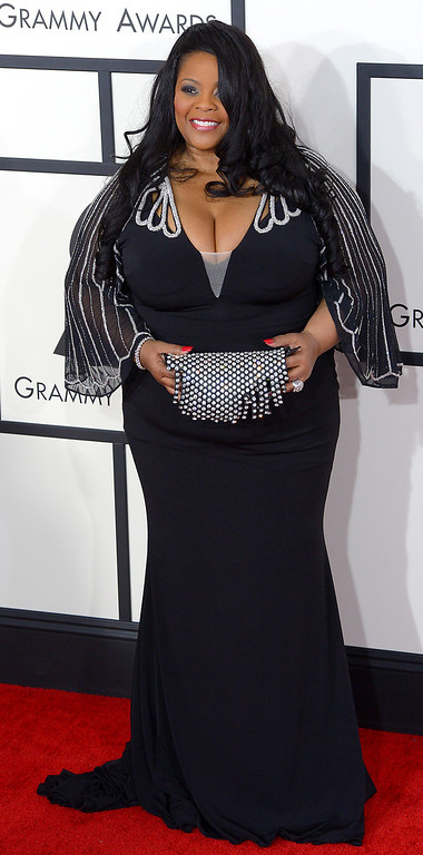 . Maysa arrives at the 56th Annual GRAMMY Awards at Staples Center in Los Angeles, California on Sunday January 26, 2014 (Photo by David Crane / Los Angeles Daily News)