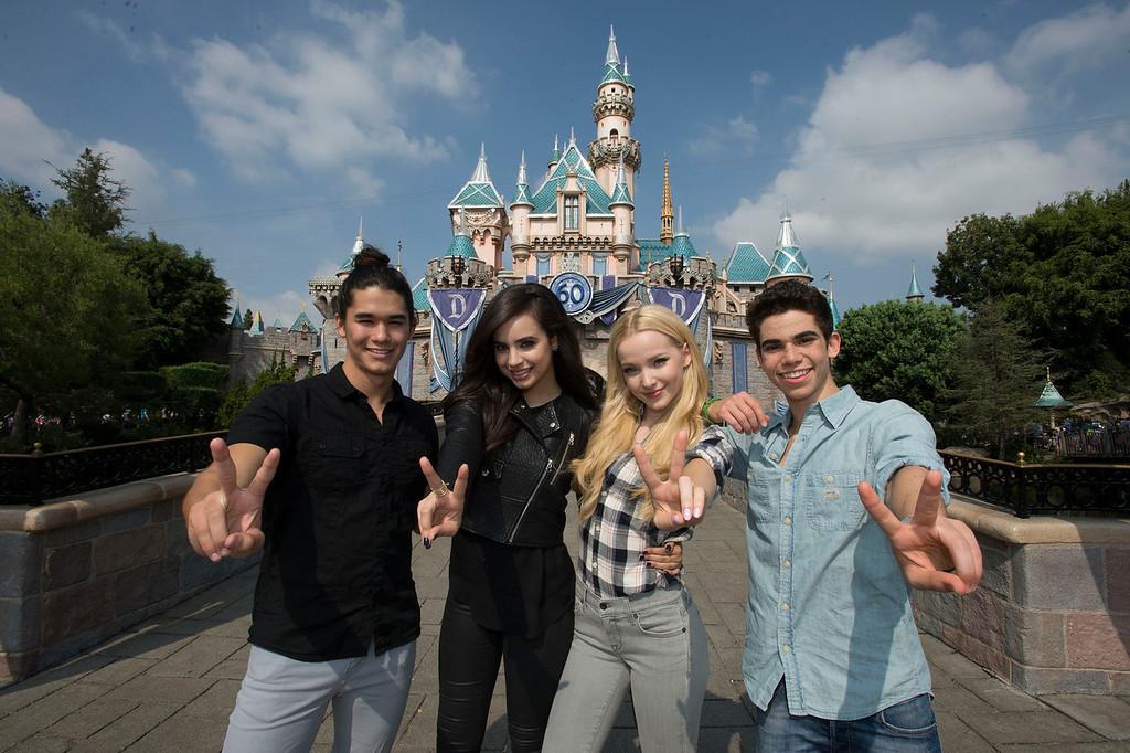 Disney Channel DESCENDANTS stars celebrate sequel at Disneyland Resort