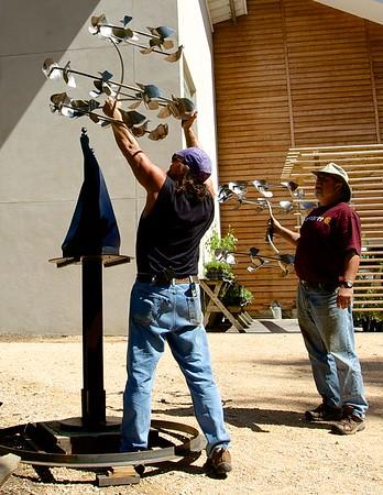 UNC Botanical Garden 24th Annual Sculpture in the Garden Insatallation