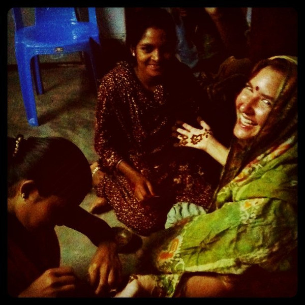 Mehndi time in Bangladesh
