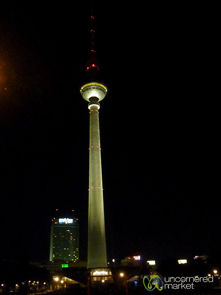 Berlin TV Tower at Night - Alexanderplatz