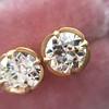 2.23ctw Old European Cut Diamond Stud Earrings 12