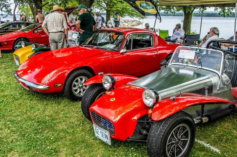 Lotus Elan and 1962 Lotus 7