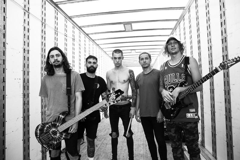 The Word Alive Backstage in Detroit, MI on Vans Warped Tour 2016
