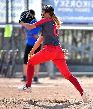 6/8/2019 Mike Orazzi | Staff NFA's Bailey Comeau (10) during Saturday's Class LL Softball Final at DeLuca Field in Stratford.