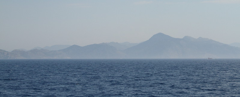 Montains of Datca, Turkey, en route to Symi.