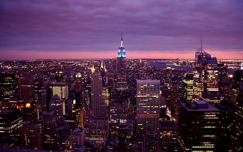 The Empire State Building & Midtown Manhattan (from Rockefeller Center)