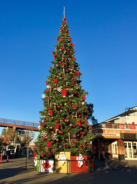 Christmas tree at the Fisheman's Wharf