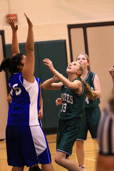 7th grade girls basketball vs CDA Charter 2-22-2011