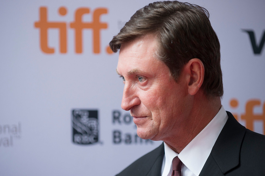 ". Wayne Gretzky seen at the premiere of ""Red Army\"" at the Ryerson Theatre during the 2014 Toronto International Film Festival on Tuesday, Sept. 9, 2014, in Toronto, Ontario. (Photo by Arthur Mola/Invision/AP)"
