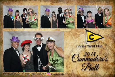 Corsair Yacht Club 2018 Commodore's Ball Booth Photos