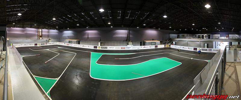 Indoor tarmac track panorama