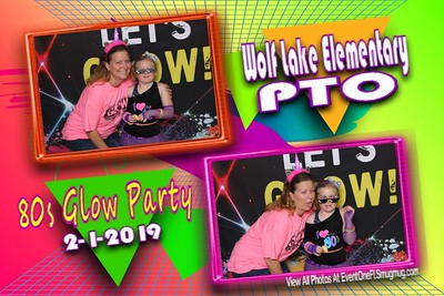 Wolf Lake Elementary PTO 80s Glow Party