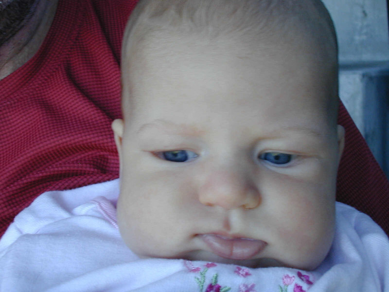 Chubby cheeks Carly.