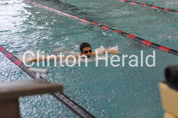 Clinton Holiday Invitational swim meet (12-20-14)