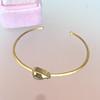 1.91ct Rustic Rose Cut Diamond Bangle in Yellow Gold 2