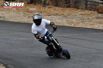 Go Ped Racer-Black Helmet_Blue Ped