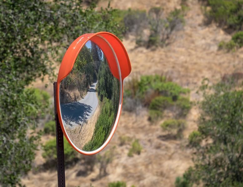 Mirror along Marciel Road