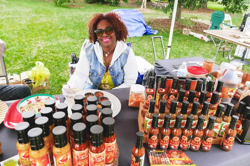 Haitian pepper sauces galore