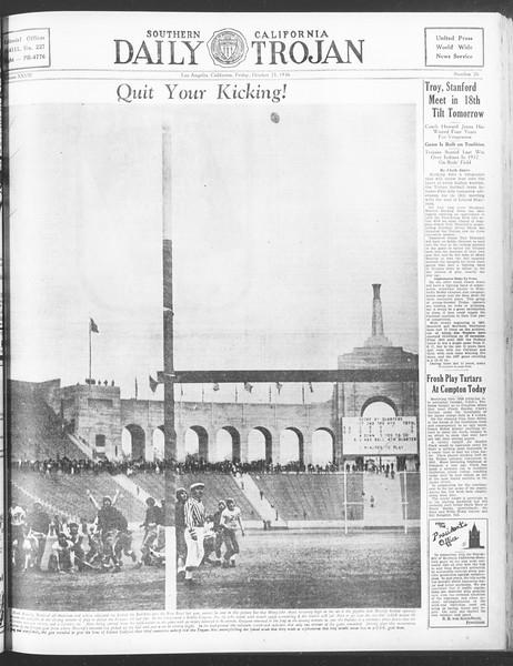 Daily Trojan, Vol. 28, No. 26, October 23, 1936