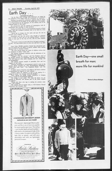 Daily Trojan, Vol. 61, No. 111, April 23, 1970