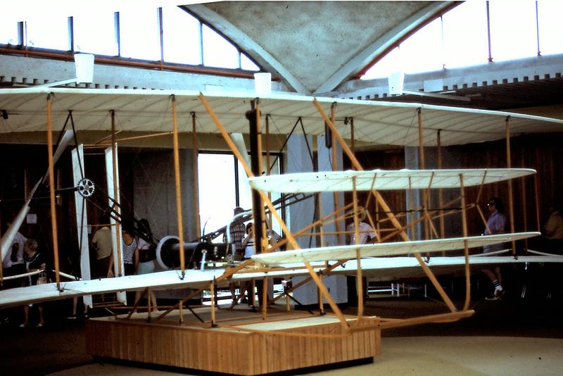 Reconstruction of original plane at Kitty Hawk museum.