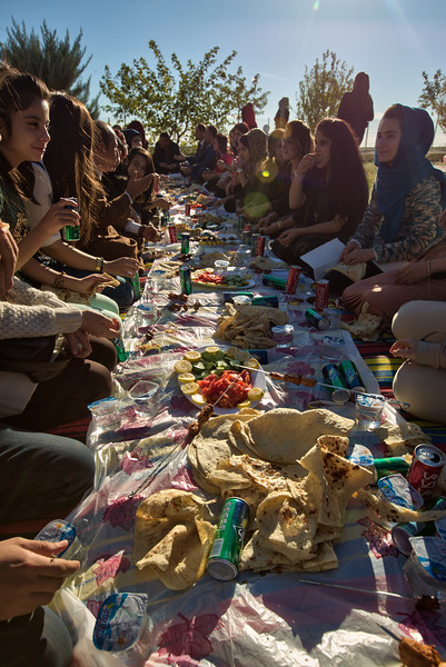 Students enjoying a picnic, Koye, Iraqi Kurdistan.