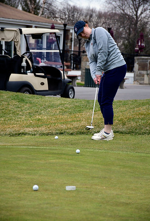 3/28/2020 Mike Orazzi | Staff Alecia Hamn while at Stanley Golf Course in New Britain on Saturday.