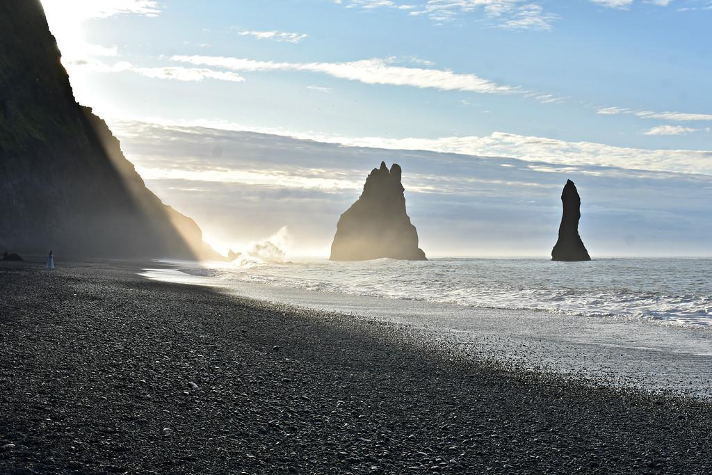 Sea stacks of Reynisdrangur South Coast Iceland