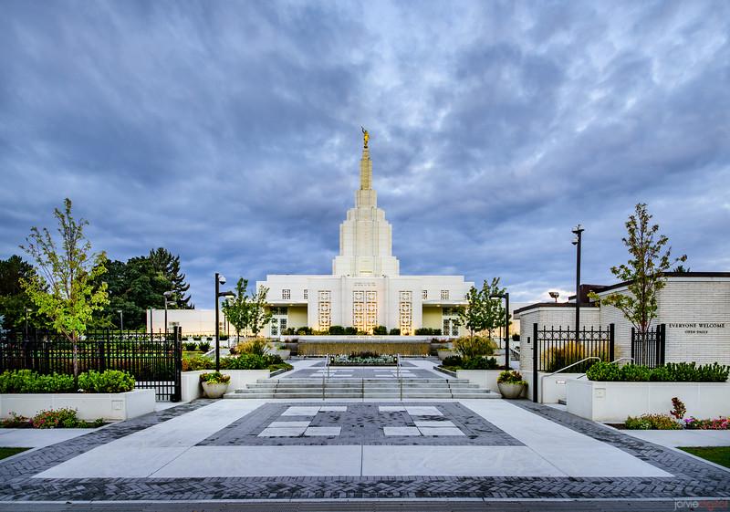 Idaho Falls Temple - The entrance