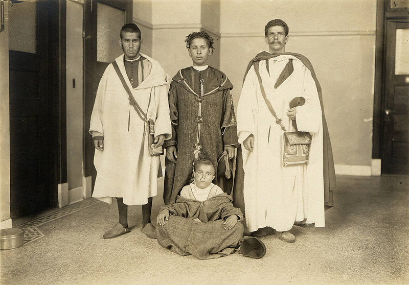 . Four male Moroccan immigrants. (NPS photo)