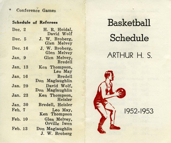 AR035.  Arthur High School basketball schedule – outside – 1.jpg