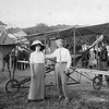 "Thanks to the Adams Museum and House for sharing these photographs of pioneer aviator Art Smith.  Smith visited Deadwood in 1912, making what is reputed to be the first airplane landing in Lawrence County.  We earlier indicated that the woman in this photograph with young Smith may have been his wife.  Not so, according to author Norma Kraemer, who has sent us a photo of Smith and his wife Aimee.  And we would agree.  Perhaps someone might take a shot at helping identify this young lady?   By the way, Kraemer's book ""<b>South Dakota's First Century of Flight</b>"" is expected to be available late this summer (2010).  You may correspond with Norma at this  e-mail address: kraemer.norma@gmail.com."