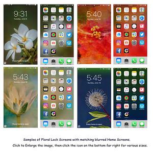 Sample Floral Screenshots
