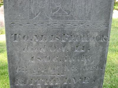 Thomas Frohock Grave