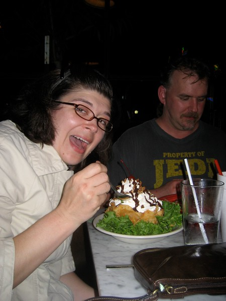 Look at the size of that fried ice cream!!