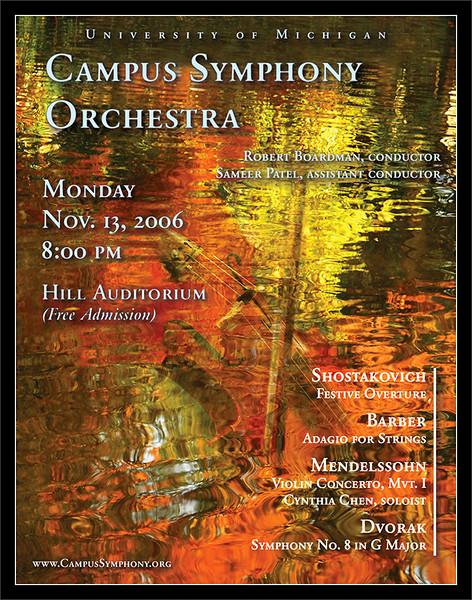F2006 Poster  Campus Symphony Orchestra University of Michigan CSO F2006 ePoster v2c  06-NOV-2006