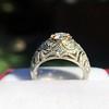 0.94ctw Vintage Old European Cut Diamond Dome Ring, Center OEC (GIA .59ct G SI2) 32