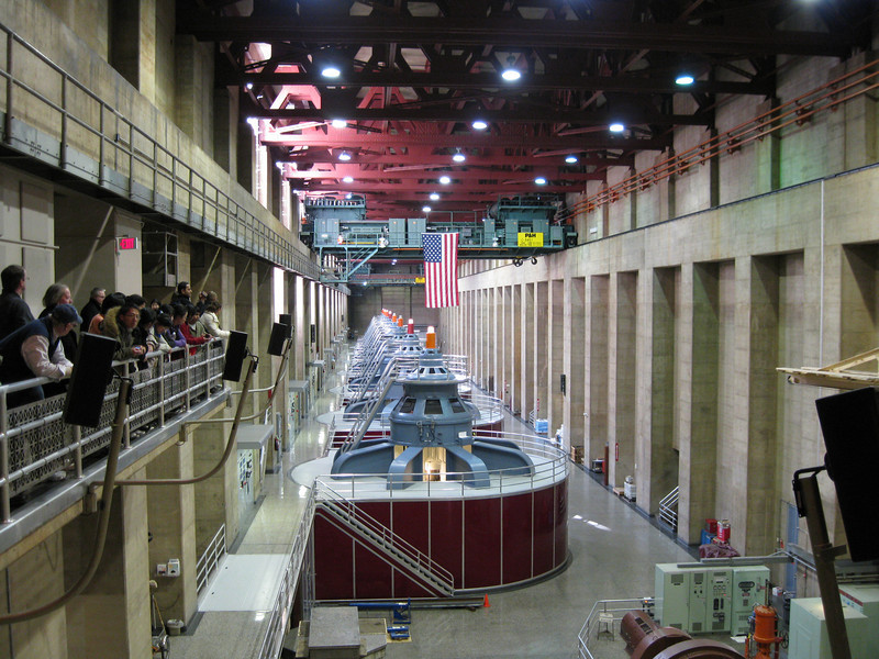 Inside one of the generator rooms.