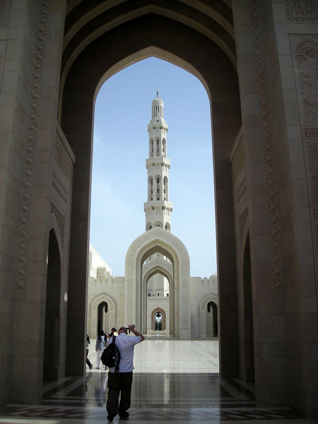 entering the Grand Mosque, Muscat, Oman
