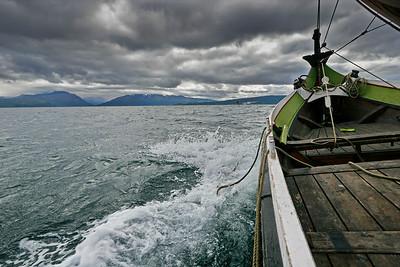 Sailing a Nordland boat on Ofotfjorden