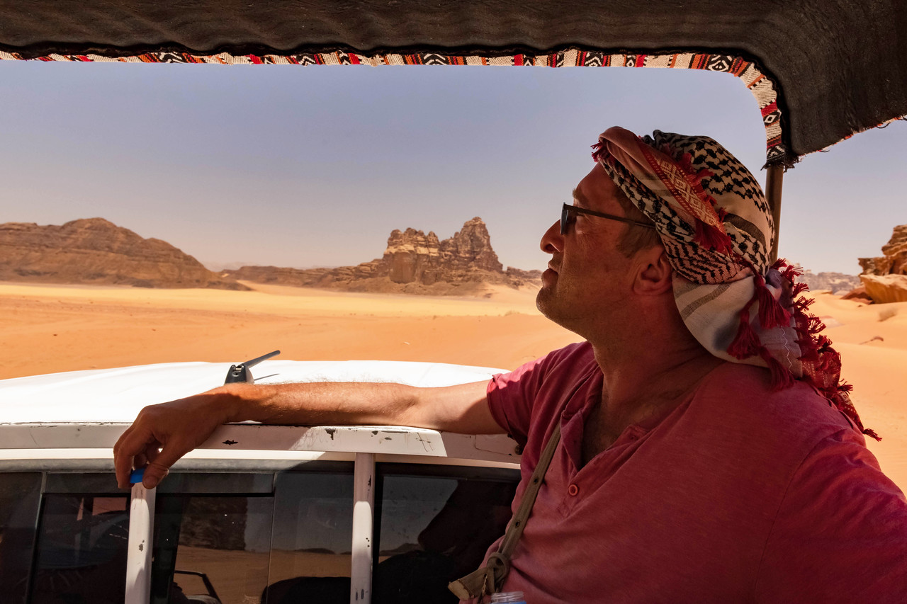 Larry at Wadi Rum