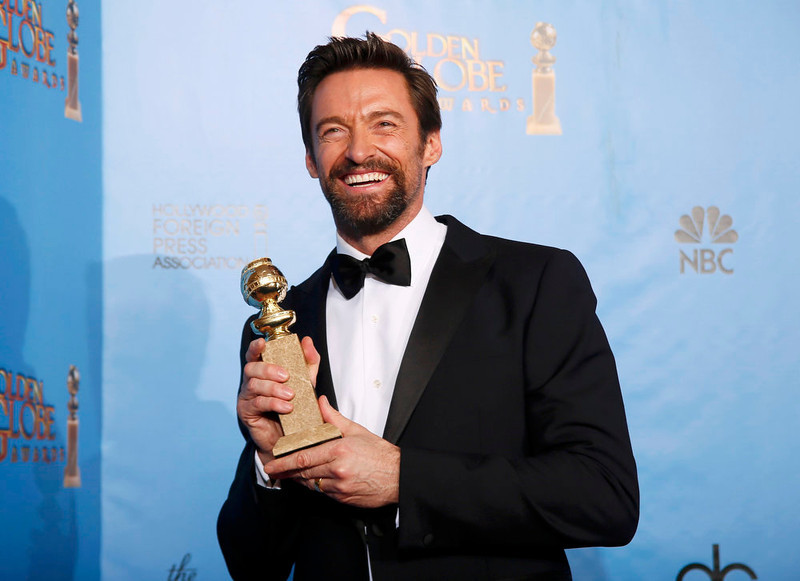 . Best Actor in a Motion Picture - Comedy or Musical: Hugh Jackman, Les Miserables