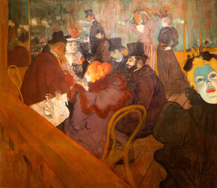"Henri de Toulouse-Lautrec's ""At the Moulin Rouge,"" 1892/5"