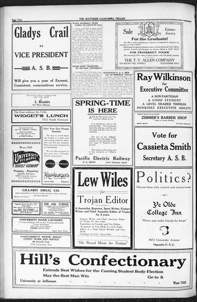 The Southern California Trojan, Vol. 12, No. 81, May 17, 1921