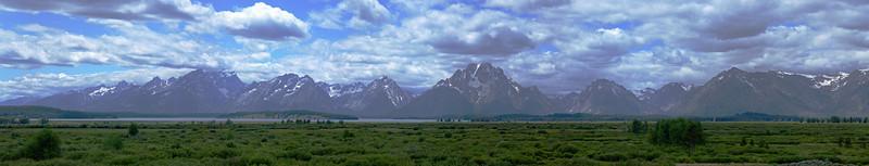 Grand Tetons mountain range - Jackson Hole, WY - July 2009