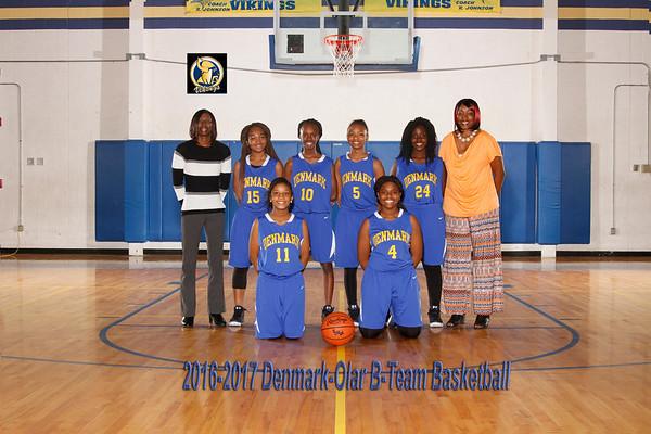 2016-2017 Girl Basketball B-Team
